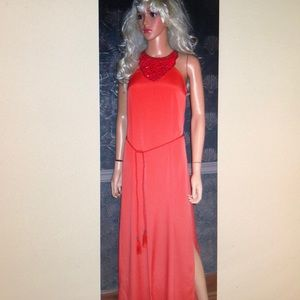 Victoria's Secret Orange Maxi Dress 6